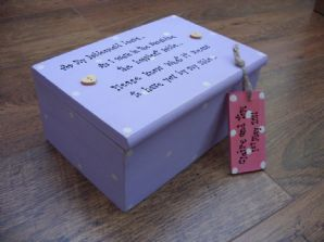 Shabby Personalised Chic Jewellery Bridesmaid Present..
